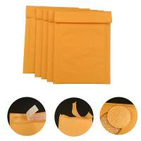 Best #000 4x8 Secure self-seal Golden Yellow Kraft Bubble Padded Mailers for shipping mailing supplies wholesale