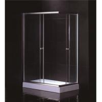 Cheap Free Standing 1200 X 800 Rectangular Shower Enclosure With Tray Center Drain for sale