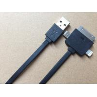 Best High Speed Genuine SAMSUNG Multifunction USB Cable / Black 3 In One Charging Cable wholesale