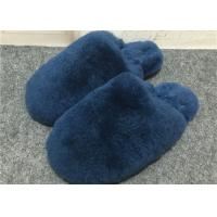 Cheap Closed Toe Fluffy House Slippers With Anti Slip Sole , Soft Black Fuzzy Slippers for sale