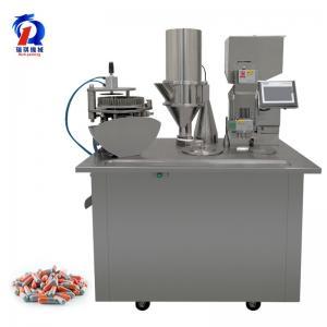 China Pharmaceutical Powder Semi Auto Capsule Filling Machine PLC Control on sale