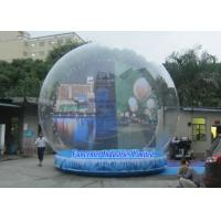 Cheap Holiday Backdrop Inflatable Snow Globe Durable PVC For Promotion Event for sale