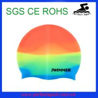 Best Speedo mix color Silicone Swimming Cap for sports wholesale