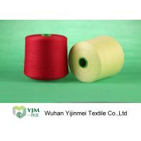 High Tenacity Plastic Cone Bright / Bright Polyester Yarn TFO / Ring Spun Yarn