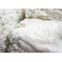 Cheap Sheared Rabbit Fur Coat Usage , Fluffy Hairs White Rabbit Fur Pelts For Garment for sale