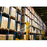 Quality Powder Coated Pallet Drive In And Drive Through Racking For Beverage Companies wholesale