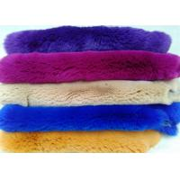 Best Natural Chinchilla Rex Rabbit Fur , Soft Genuine Sheared Rabbit Fur Jacket Hide wholesale