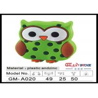 Buy cheap Mr.Owl GreenRubber Kids Bedroom Knobs , Soft Plastic Knobs For Children's Furniture Decorative from wholesalers