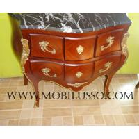 China Luxury Reproduction French antique bombe chest of drawers on sale