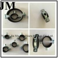 Quality 20 mm Bandwidth Rubber Pipe Clamp M8/M10 Nut wholesale