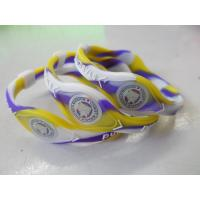 China Power Wristband Silicone Balance Bracelet Printed / Debossed For Promotion Gift on sale