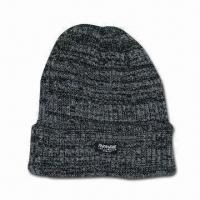 Best Men's Knitted Hat with C40 Lining and 83g Weight wholesale