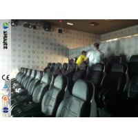 Cheap Genuine Leather Convenient 6D Movie Theater With 3DOF Motion Chairs for sale