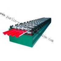 Best PLC Hydraulic Ridge Cap Roll Forming Machine , Automatic Galvanized Metal Rolling Form Line wholesale