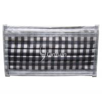 Best Single-piece Package Black and White Big Checked Pattern Face Mask wholesale