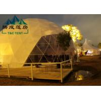 Best Transparent Geodesic Dome Tent Easy Maintenance Hot - Dipped Galvanized Steel wholesale