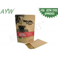 Best Durable Biodegradable Stand Up Pouches With Zipper , Resealable Kraft Paper Bags For Raw Drip Coffee wholesale