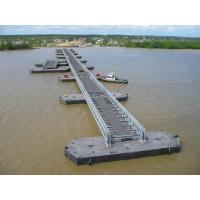 Best Highway Bailey Steel Bridge , Modular Recyclable Military Floating Bridge wholesale