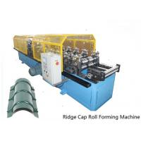 Best Full Automatic Control 14 Stations Ridge Cap Roll Forming Machine For the Top of Warehouse of Separating Rainwater wholesale