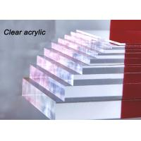 Best Indoor / Outdoor Clear Acrylic Sheet 80% - 90% Light Transparency For Engraving Letters wholesale