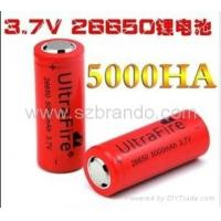 Best 28650 li-ion battery 3.7V 5000Mah , recargeable high power Torch battery wholesale
