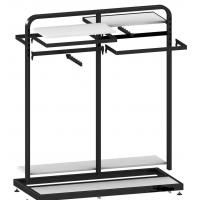 Best Metal / Wood  Customized Color Display Rack Stand Garment Showrooms  600*500*1000mm wholesale