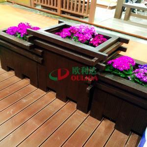 Best Prefabricated WPC Composite Garden Planters Pot 2372 X 694 X 746mm For Park Decoration wholesale