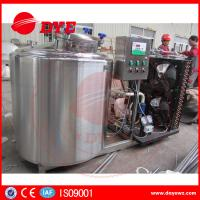 Cheap Horizontal 200L Stainless Milk Cooling Tank Trailer Safety Prevents Bacteria for sale
