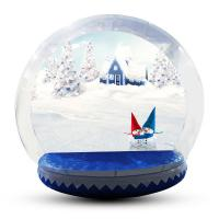 Best Human Size Snowball Snow Globe / Giant Inflatable Christmas Globe For Festival wholesale