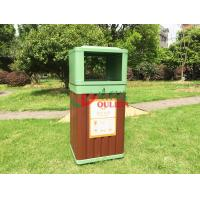Best Green Recycling Composite Trash Canscolor Antisepsis Fire Resistance 415 X 365 X 900mm wholesale