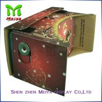 Cheap Colorful Virtual Reality Cardboard Box for Watching 3D Movie / Video for sale