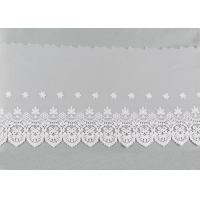 Best Openwork Embroidered Nylon Lace Fabric Bilateral Symmetry Lace For Wedding Dresses wholesale