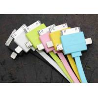 Cheap High Speed Charging Multifunction USB Cable Colorful for SAMSUNG / IPhone 4 / 5S for sale