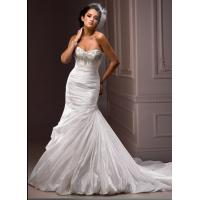 Best Elegant Beaded Ruffles Mermaid Wedding Gowns Custom Made With Corset Back wholesale
