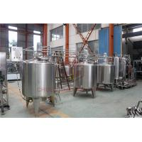 Best Stainless Steel Beverage Mixer Carbonated Drink Production Line With Piston Filling System wholesale