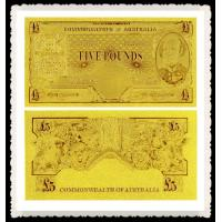 Best Engraved Old AUD Gold Banknote 5 AUD 24K Gold Foil Plated,Best Gift For Business wholesale