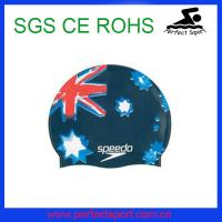 Best Best Sales National Silicone Flag Swim Cap for Sport Events wholesale