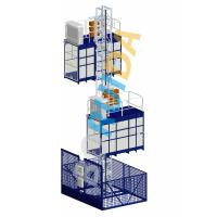 Best Blue Cage Of Construction Hoist Elevator , Construction Material and Personal , Single Lifting Cage wholesale