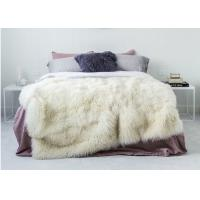 Best Large Mongolian Curly Real Sheepskin Rug Warm With Long Hair Tibetan Wool wholesale
