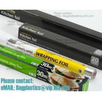 China Eco Friendly Household 11micron Hamburger Wrapping Aluminium Foil Roll For Food Packaging Wrapping Foils, Embossed Alumi on sale
