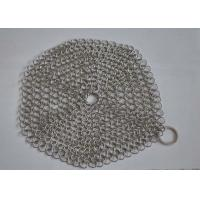 Best Custom Pan Stainless Steel Chainmail Scrubber 10mm Outside Diameter , Eco Friendly wholesale