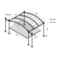 Details Of Heavy Duty Aluminum Stage Truss System With Pvc