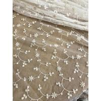 Best Ivory Vintage Floral Nylon Lace Fabric By The Yard For Wedding Dresses 120cm Width wholesale