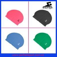 Cheap swimming hat,latex swim caps,flag swim cap for sale