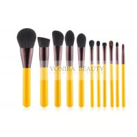 Best Yellow Handle Stylish Makeup Brush Collection Kit For Basic Daily Application wholesale