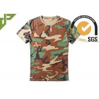 Woodalnd Cool Tactical T Shirts Elastic 100% Cotton For Outdoor Sports