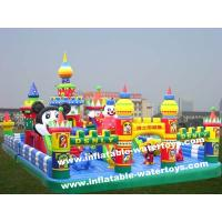 Quality Animal World 0.55mm PVC Tarpaulin Kids Inflatable Fun City Amusement Park Disney Land wholesale