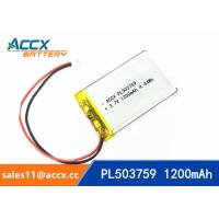 Best 503759 pl503759 3.7v 1200mah lithium polymer battery rechargeable li-ion batteria wholesale