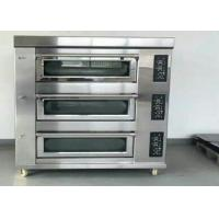 Best Stainless Steel Baking Oven 3 Deck 9 Trays Electric / Gas Deck Oven wholesale