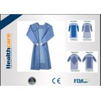 Buy cheap Blue Sterile Fluid Resistant Disposable Medical Clothing / Disposable Operating Gowns from wholesalers